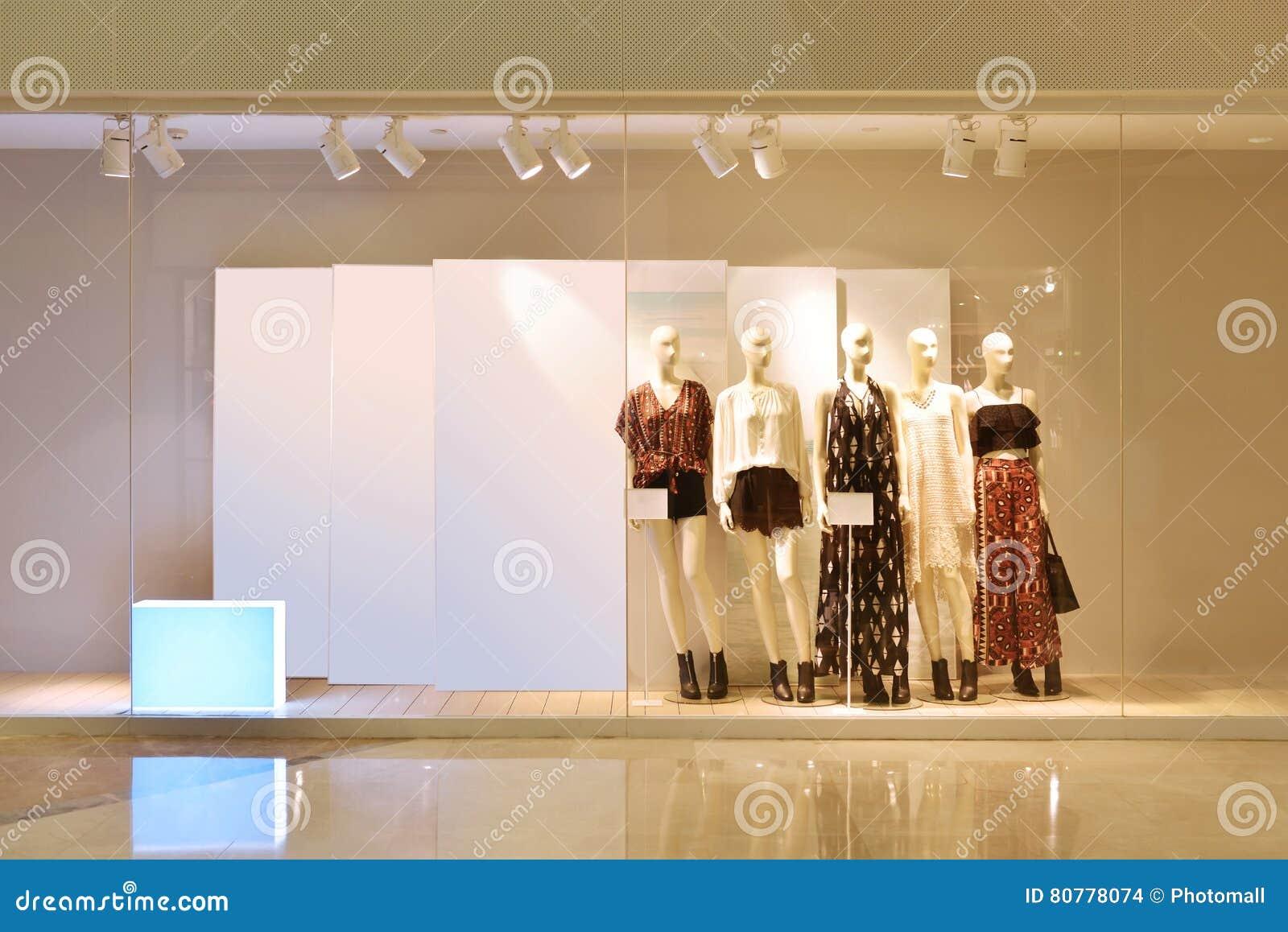 Mode shoppar fönstret
