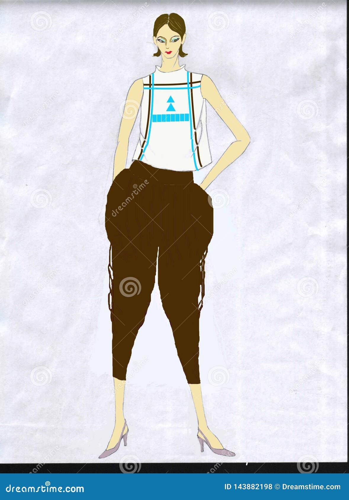 Modedesign - förbättrade kinesiska kläder - tillfälliga kläder