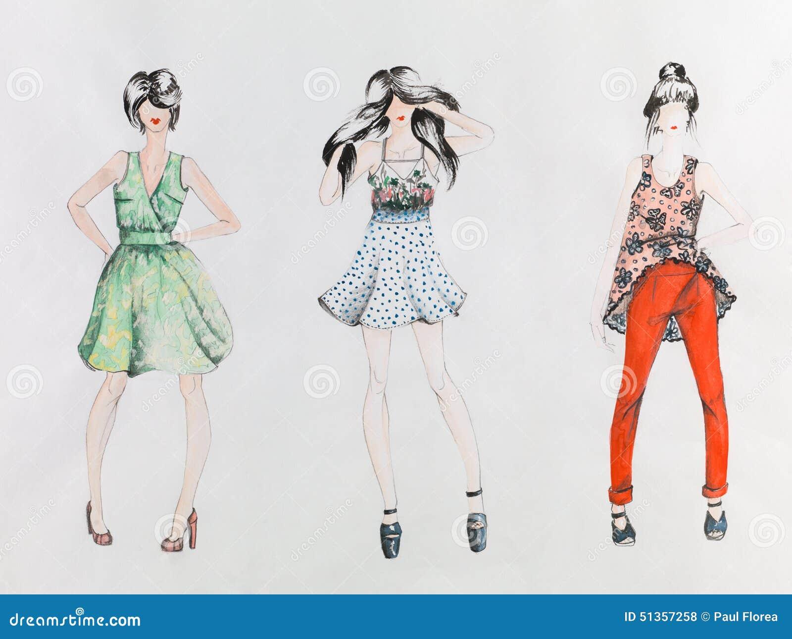 Basic Sketches For Fashion Designing