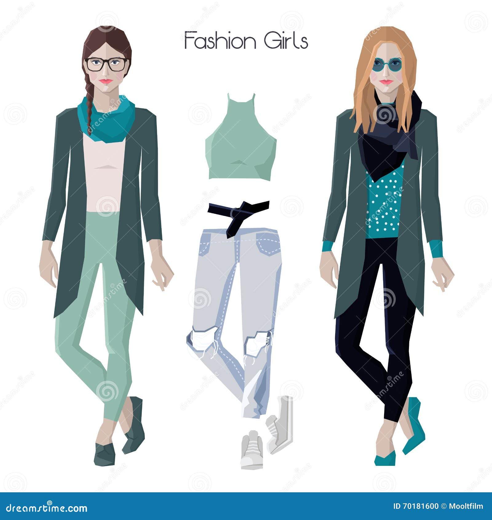 Modeflickauppsättning