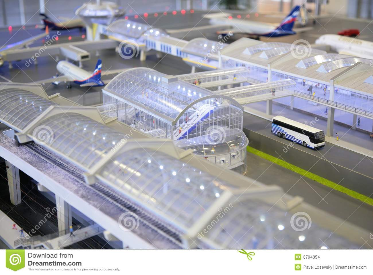 Model Of Airport Stock Images - Image: 6794354