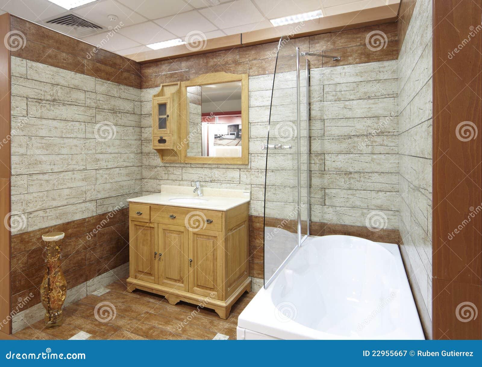 Model badkamers met tegels in een toonzaal royalty vrije stock fotografie afbeelding 22955667 for Badkamer model
