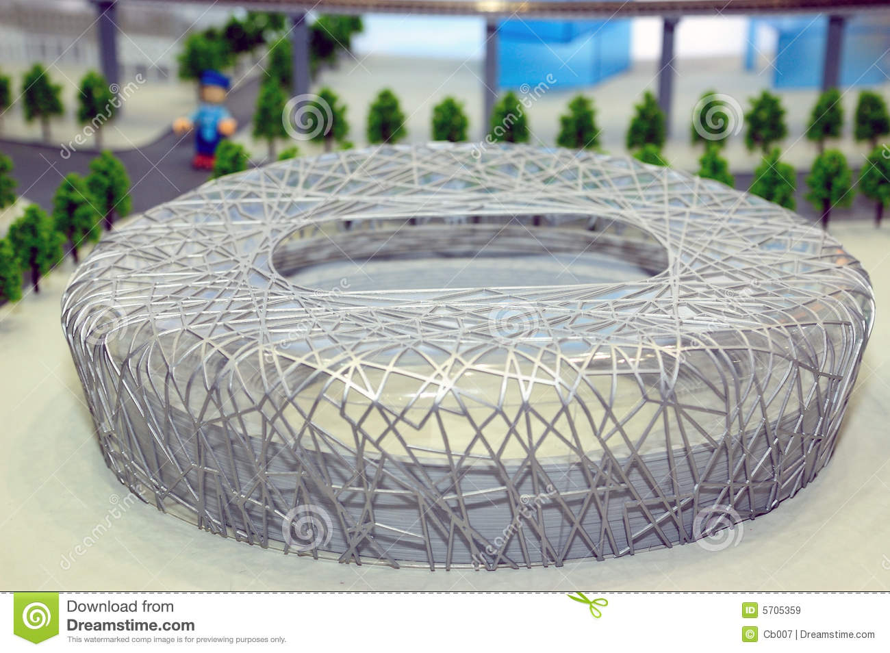 Model of bird 39 s nest stadium editorial stock image image for Nest bird stadium