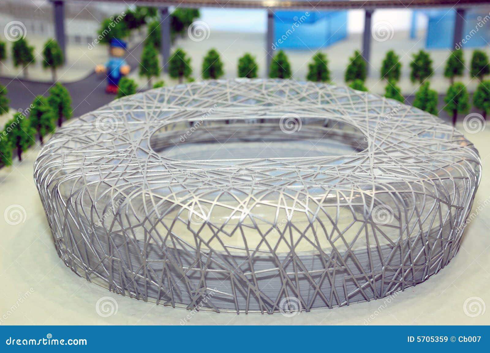 Model of bird 39 s nest stadium editorial stock image image for The nest beijing