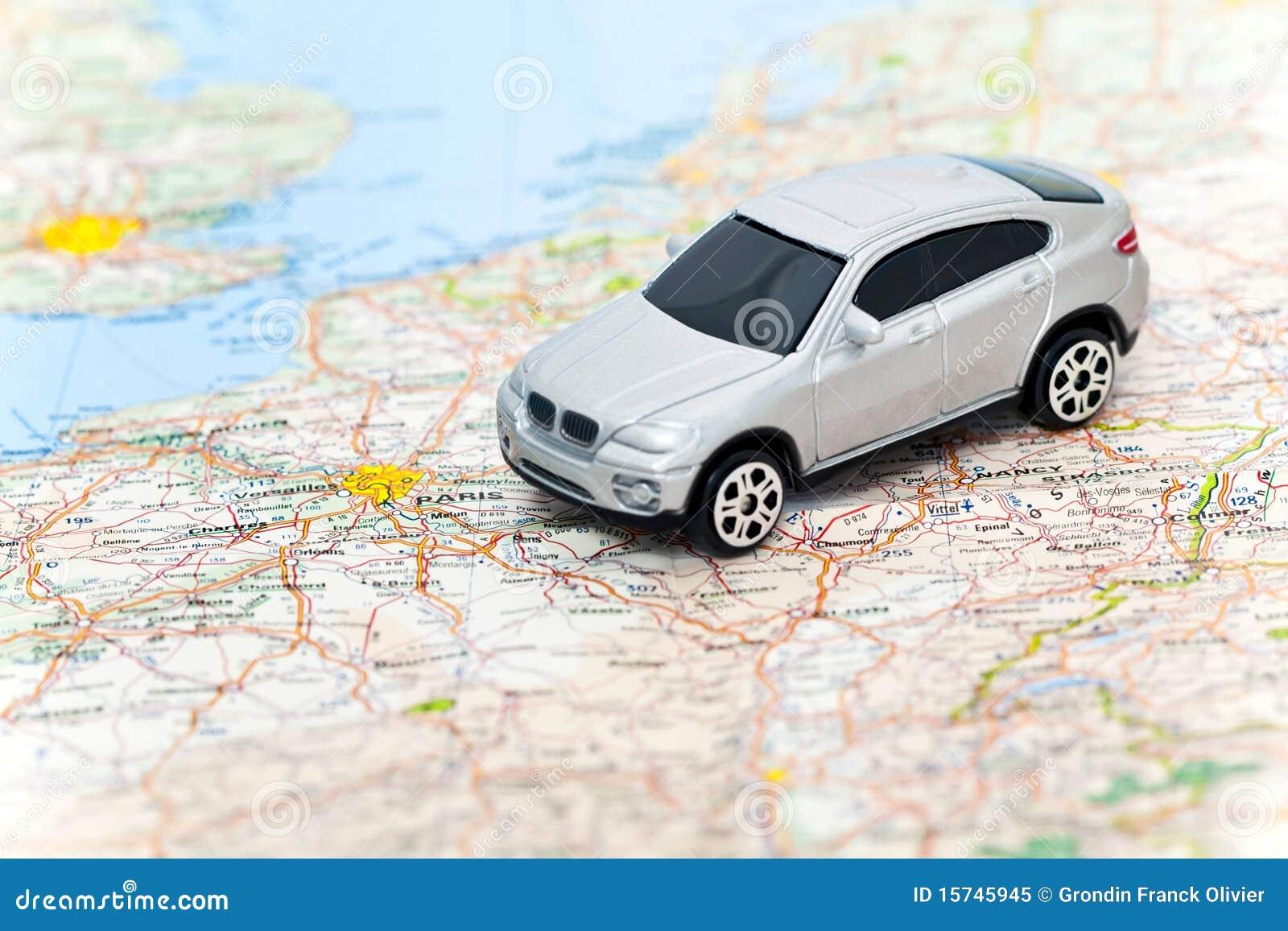 model car on map of france royalty free stock photo image 15745945. Black Bedroom Furniture Sets. Home Design Ideas
