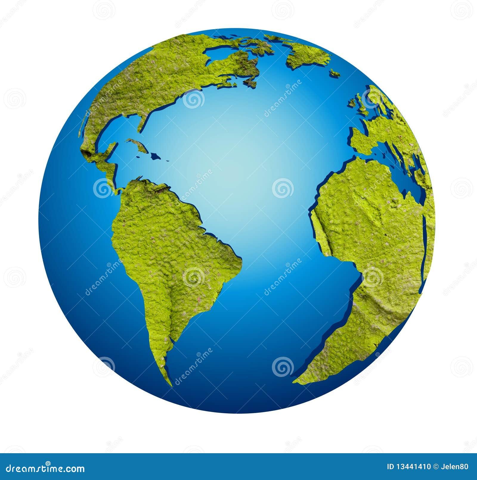 Model Of Earth Globe Stock Photo