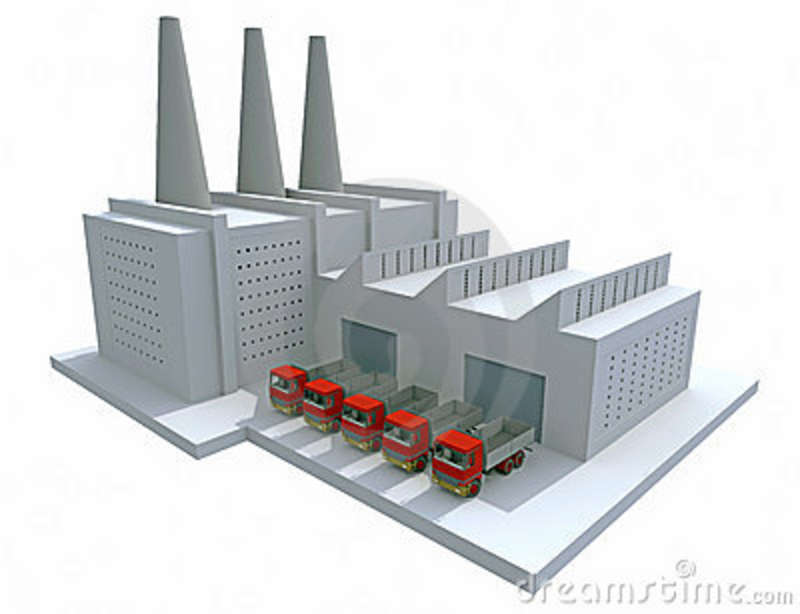 Model Factory Royalty Free Stock Image - Image: 11442126