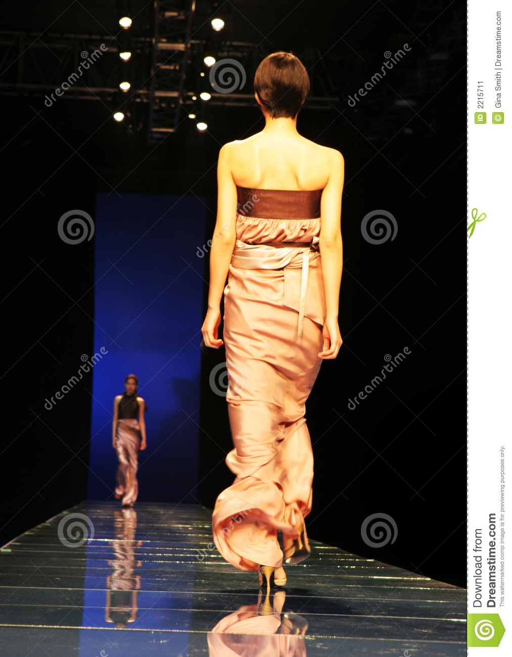 Model at fashion show
