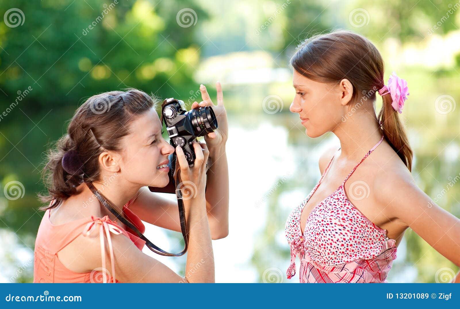 Model fotograffor för flicka