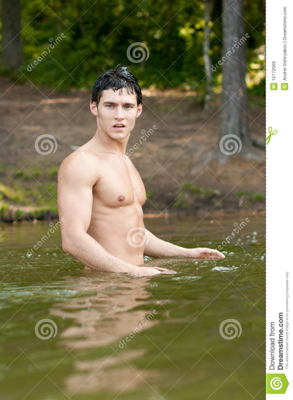 Model in het water