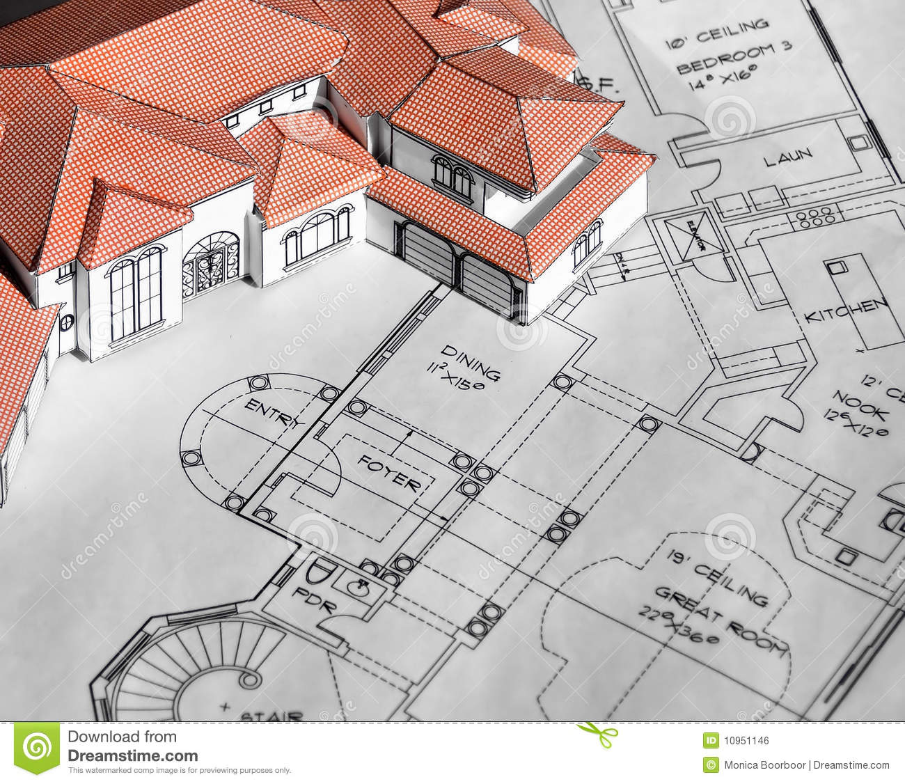 Royalty Free Stock Photo  Download Model home and blueprints. Model home and blueprints stock photo  Image of industry   10951146