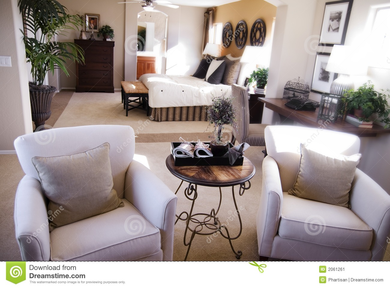 Model Home Interior Design Stock Image
