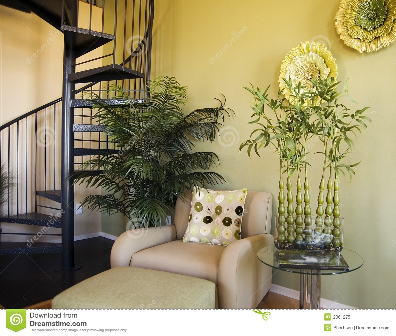 Model Home Interior Design Stock Image. Image Of Stair