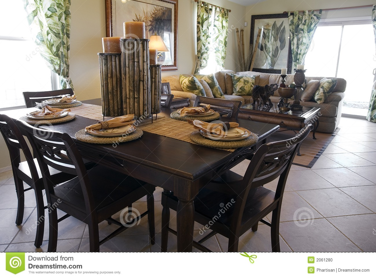 Model Home Interior Design Stock Photo