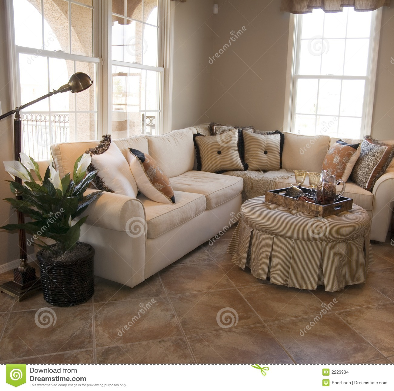 Model Home Interior Design Stock Images