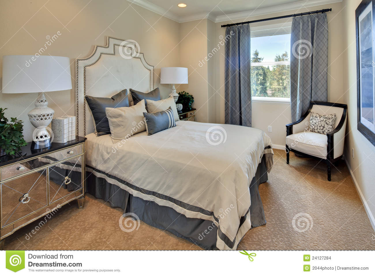 Model home master bedroom stock images image 24127284 for Home master
