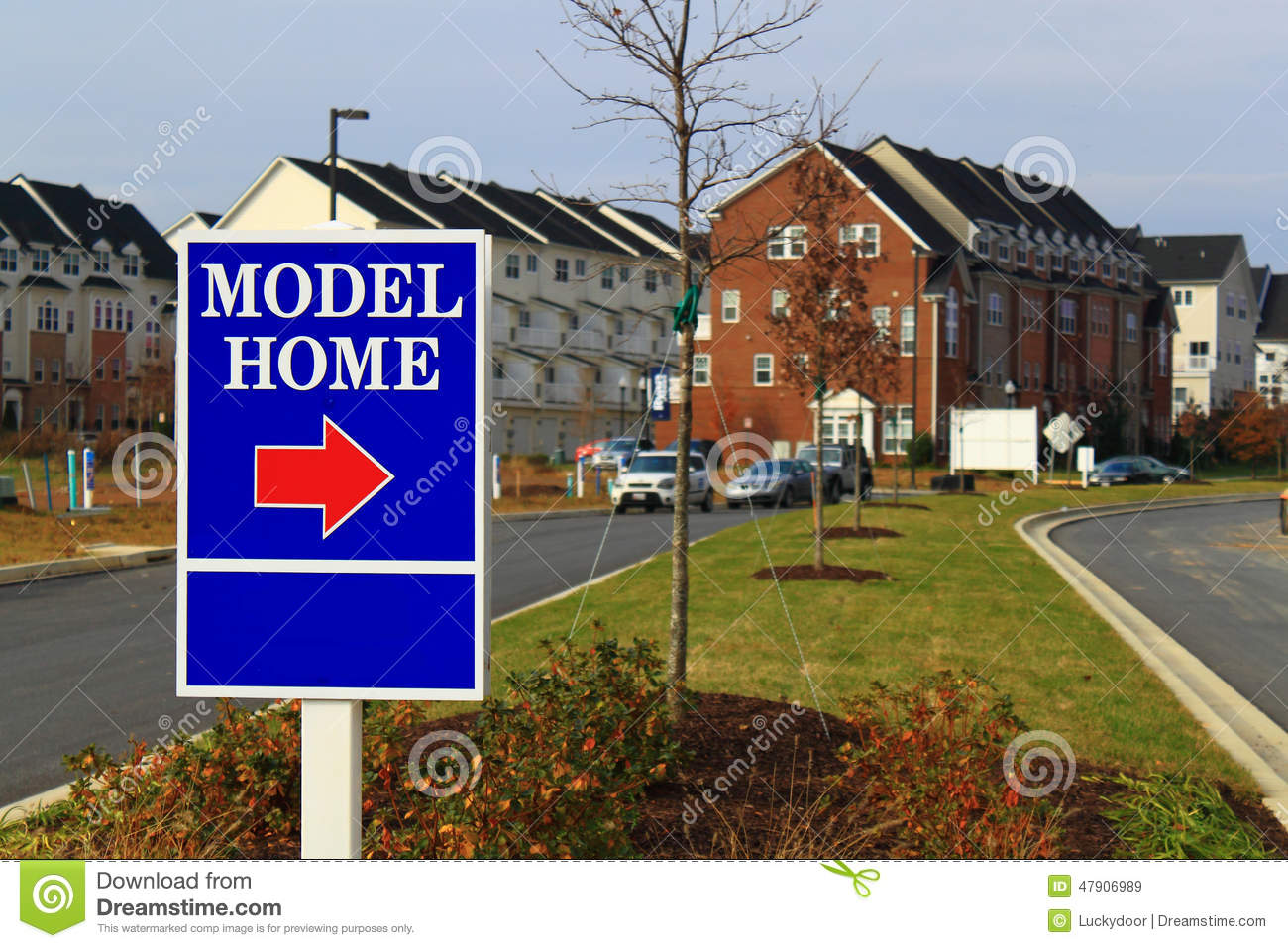 model home sign stock image image of estate advertise 47906989