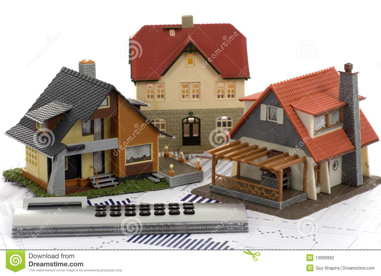 Model House And Calculator Stock Photography Image 13099992