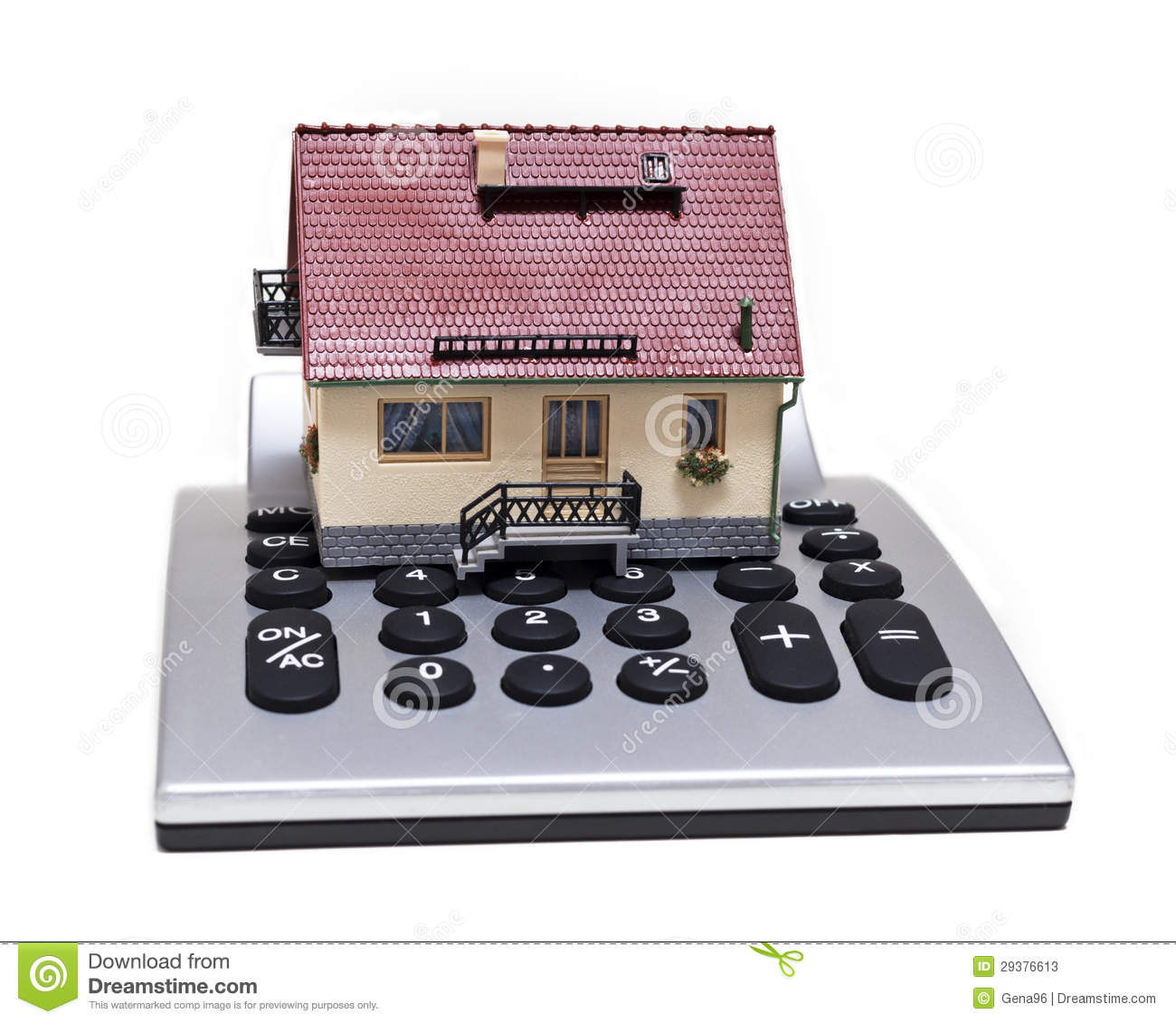 Model house and calculator stock photos image 29376613 for Building a home calculator
