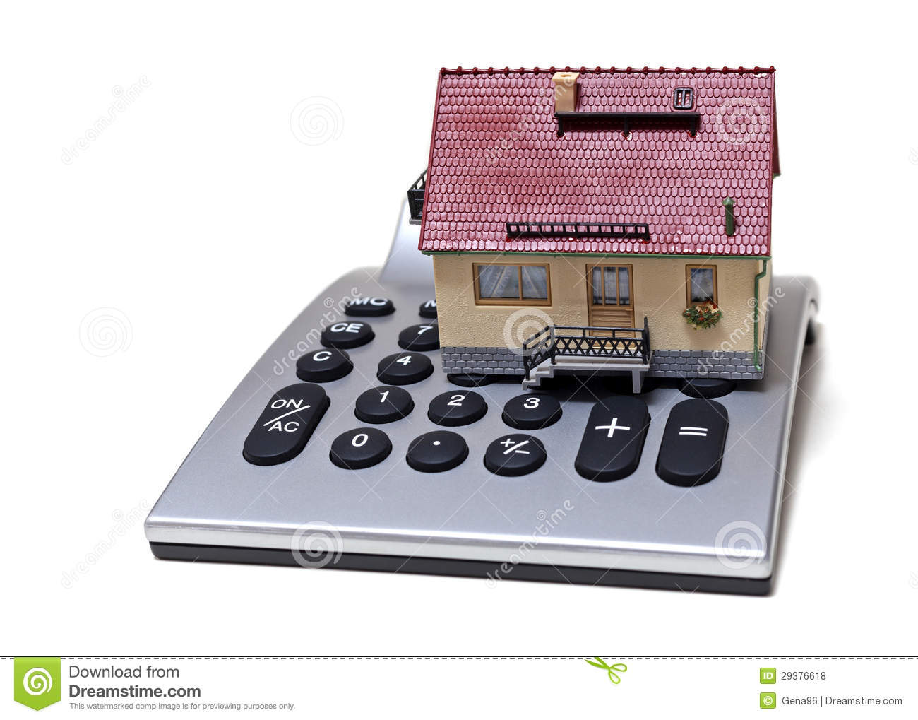 Model house and calculator royalty free stock photos for Building a home calculator