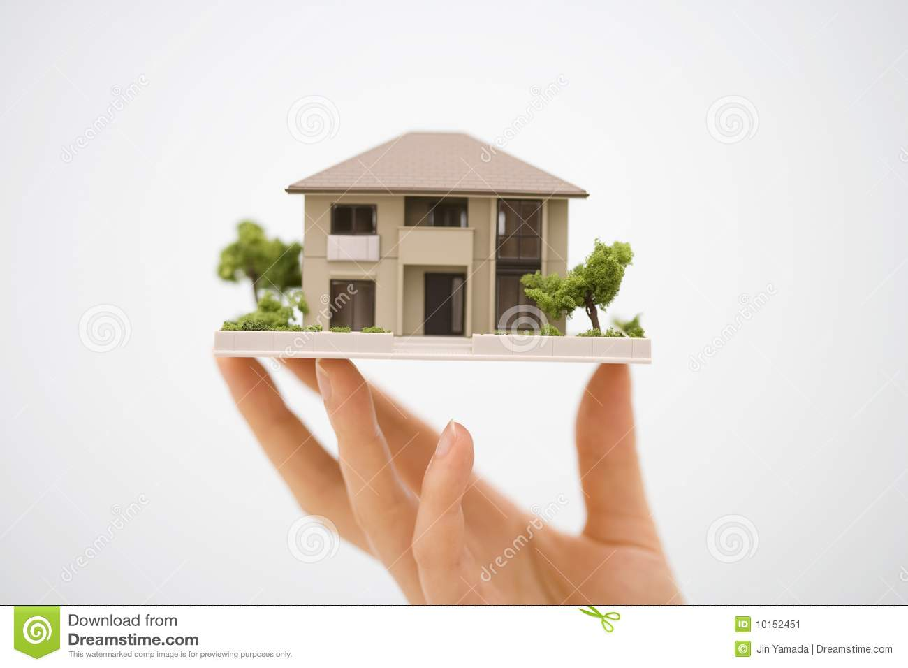Model House With A Hand Stock Image Image 10152451