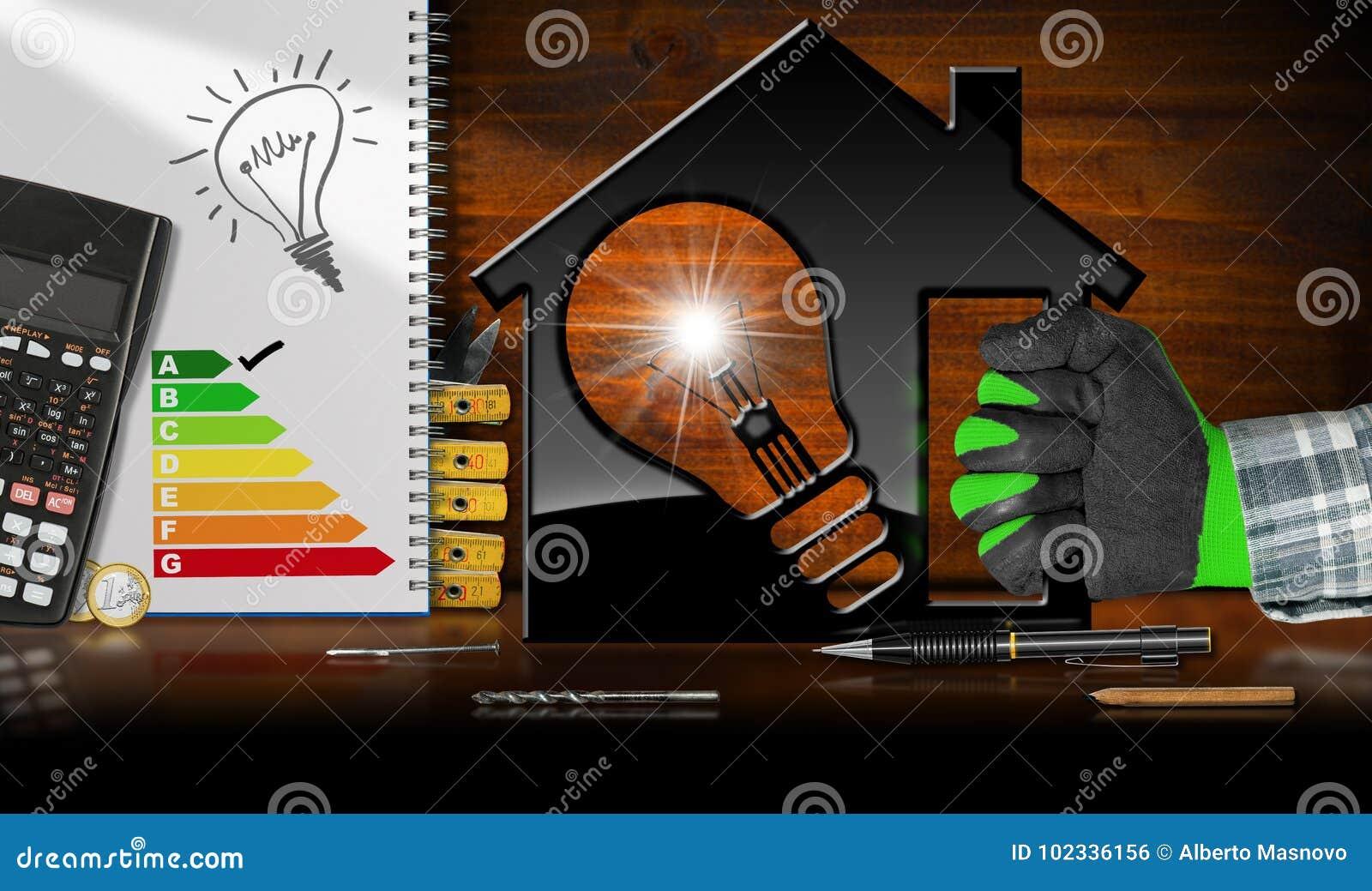 Model House and Light Bulb - Energy Efficiency