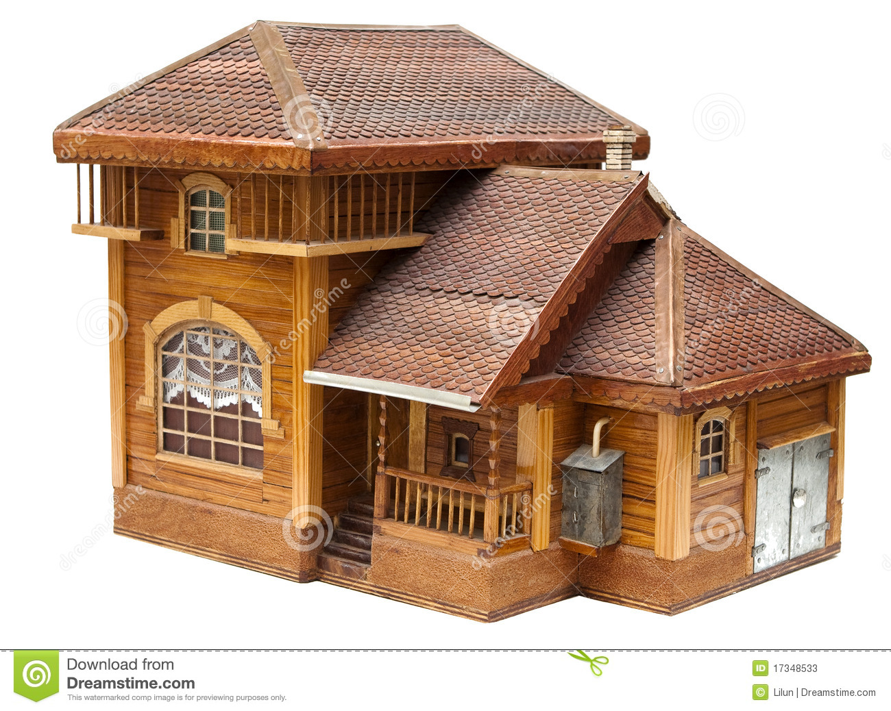 Model of the house made of wood stock image image 17348533 for Wood house images