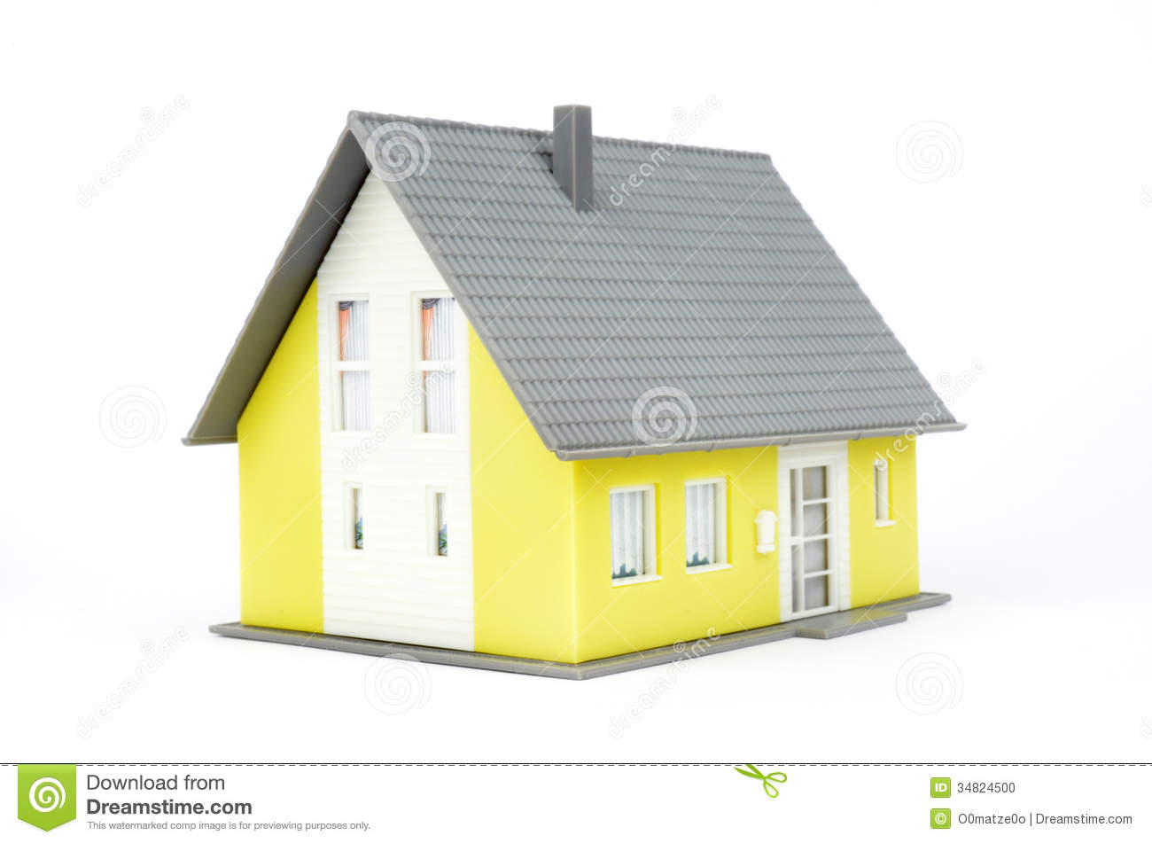Model of a house stock photo  Image of people, roof