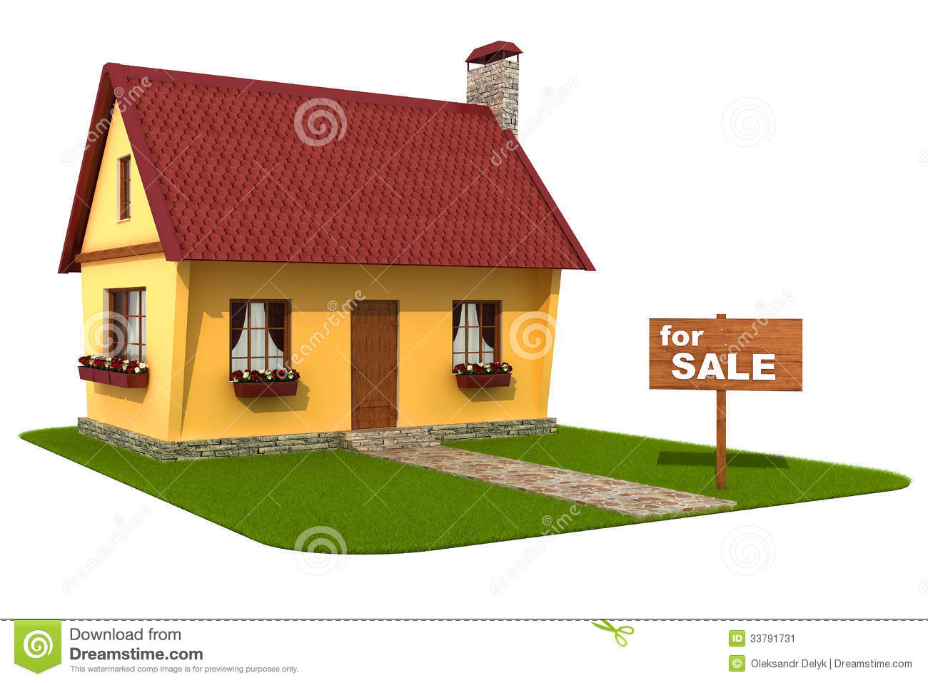 Model House For Sale Signboard Stock Image Image 33791731
