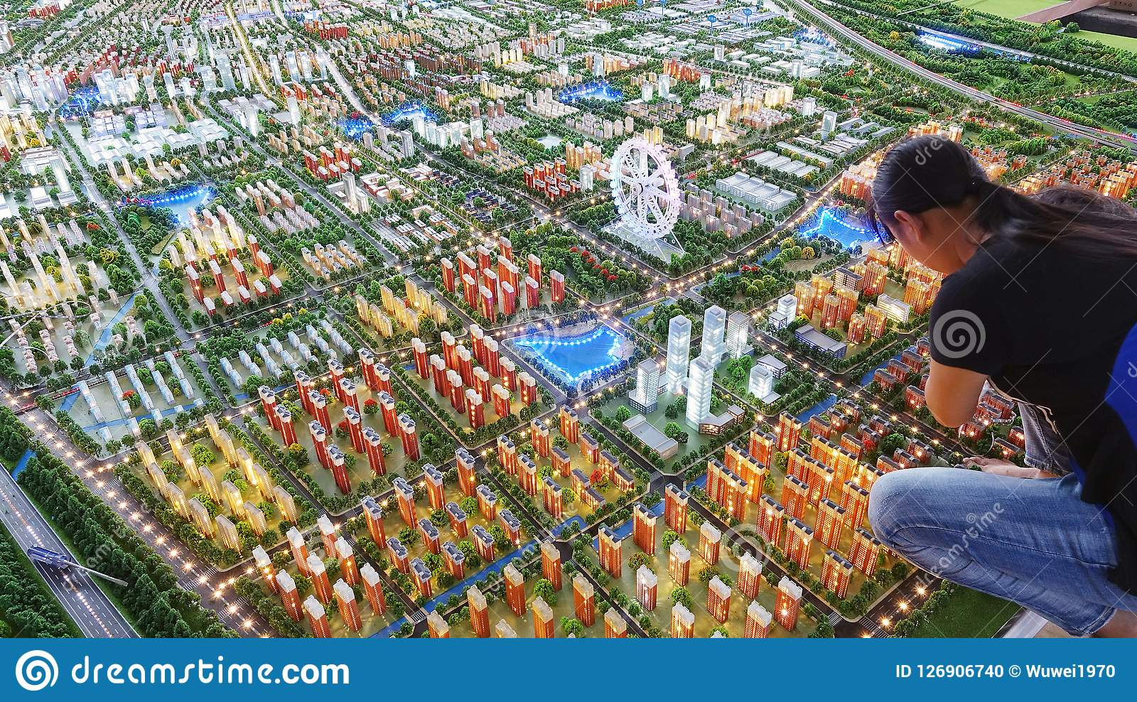 Model Of Lankao County, Henan Province  Editorial Image