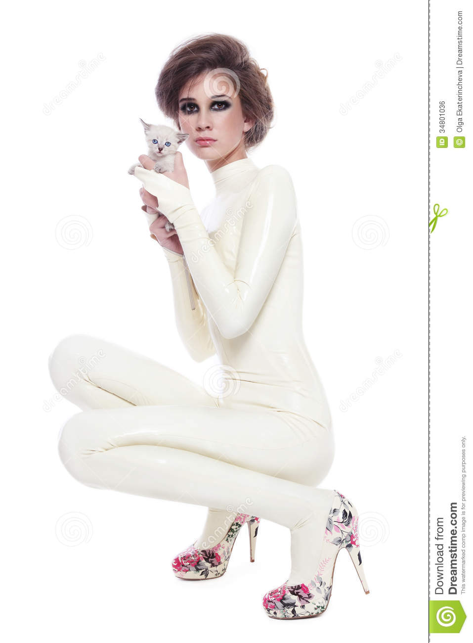 model in latex catsuit royalty free stock image image