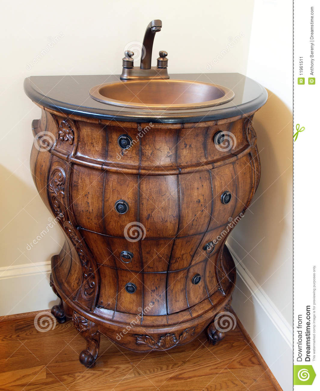 Model Luxury Home Interior Barrel Sink Stock Image