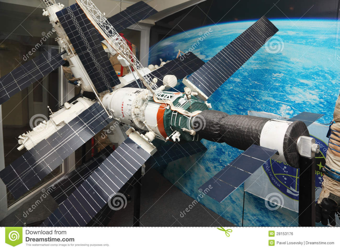 Model Of Mir Space Station Editorial Photo Image Of Model 28153176