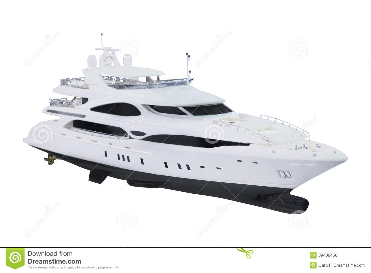 Model Of A Motor Boat Stock Photo - Image: 39406456