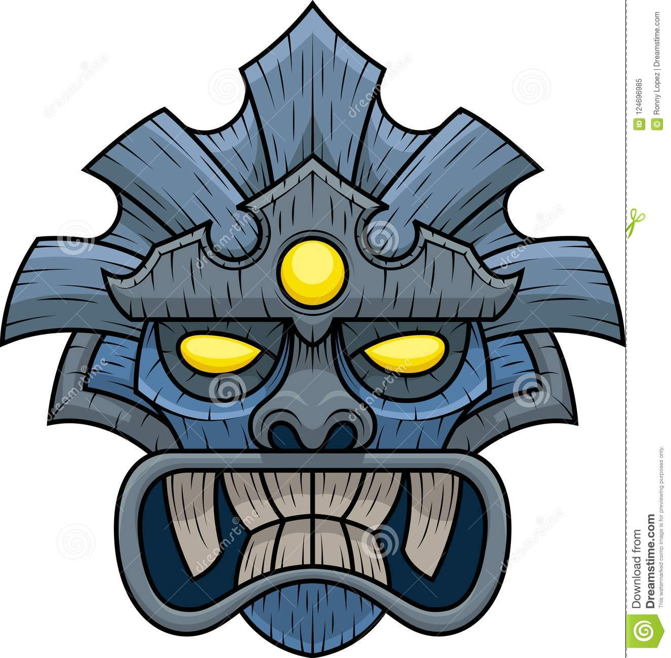 Model Number Eight Of Tiki Mask Stock Vector - Illustration of fifth ...