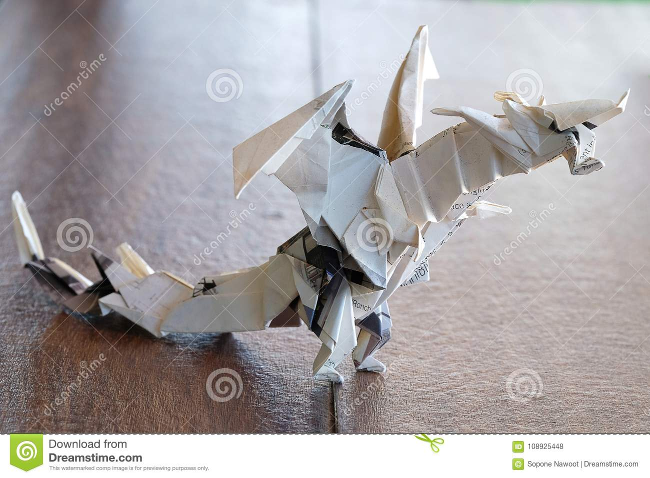 Model Origami Dragon Stock Photo Image Of Artistic 108925448