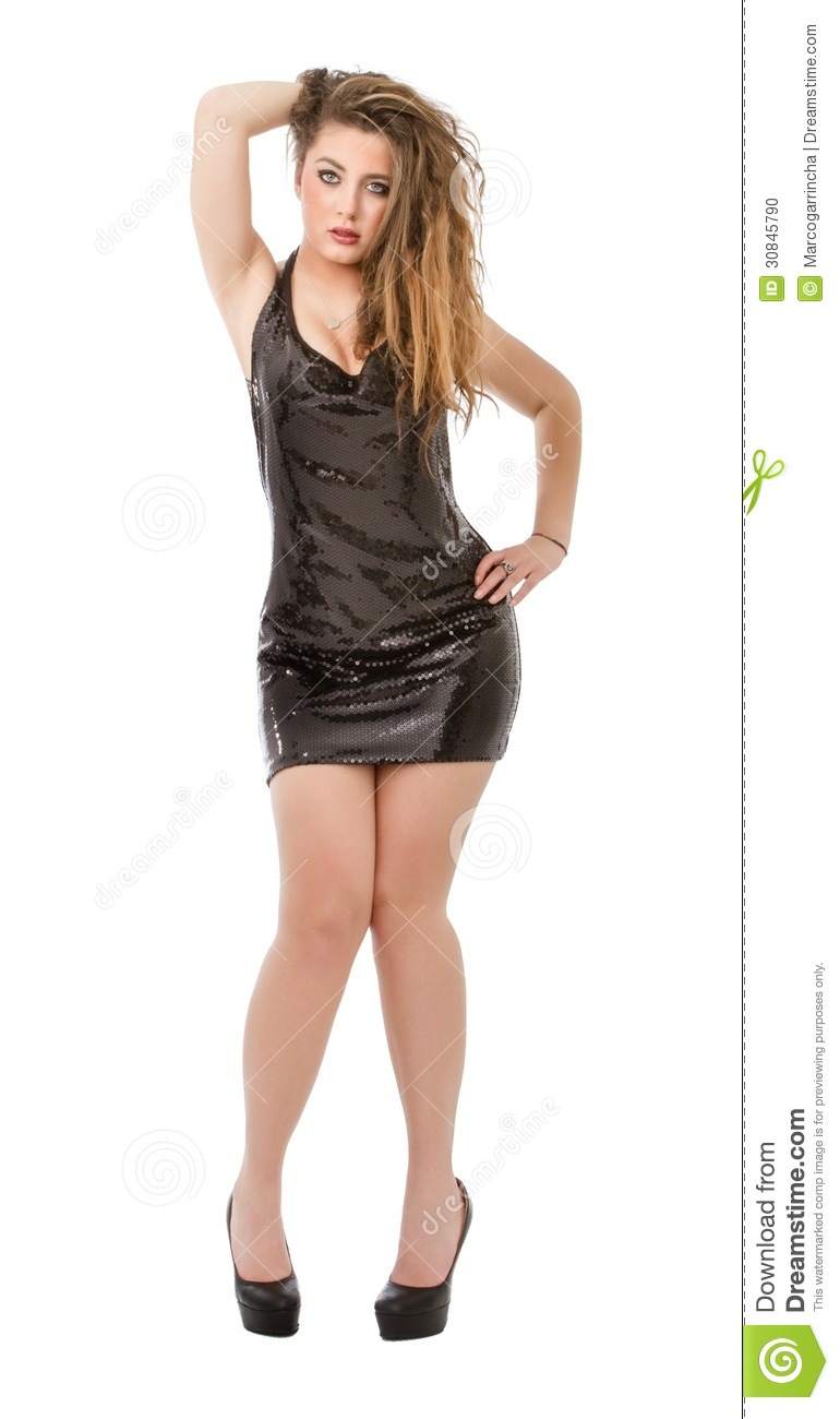 Model Pose In White Background Stock Photo - Image: 30845790