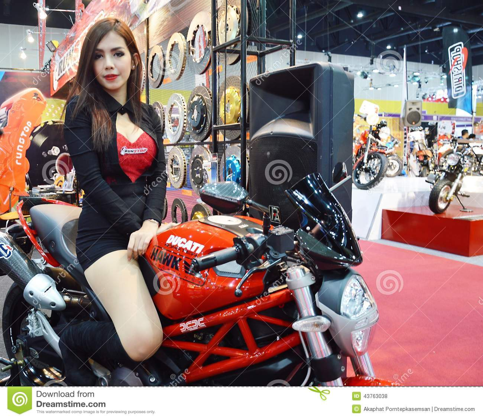 Model Presented Car Accessories Editorial Stock Photo