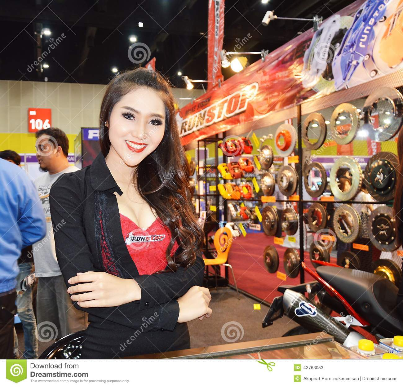Model Presented Car Accessories Editorial Stock Photo - Image of ...