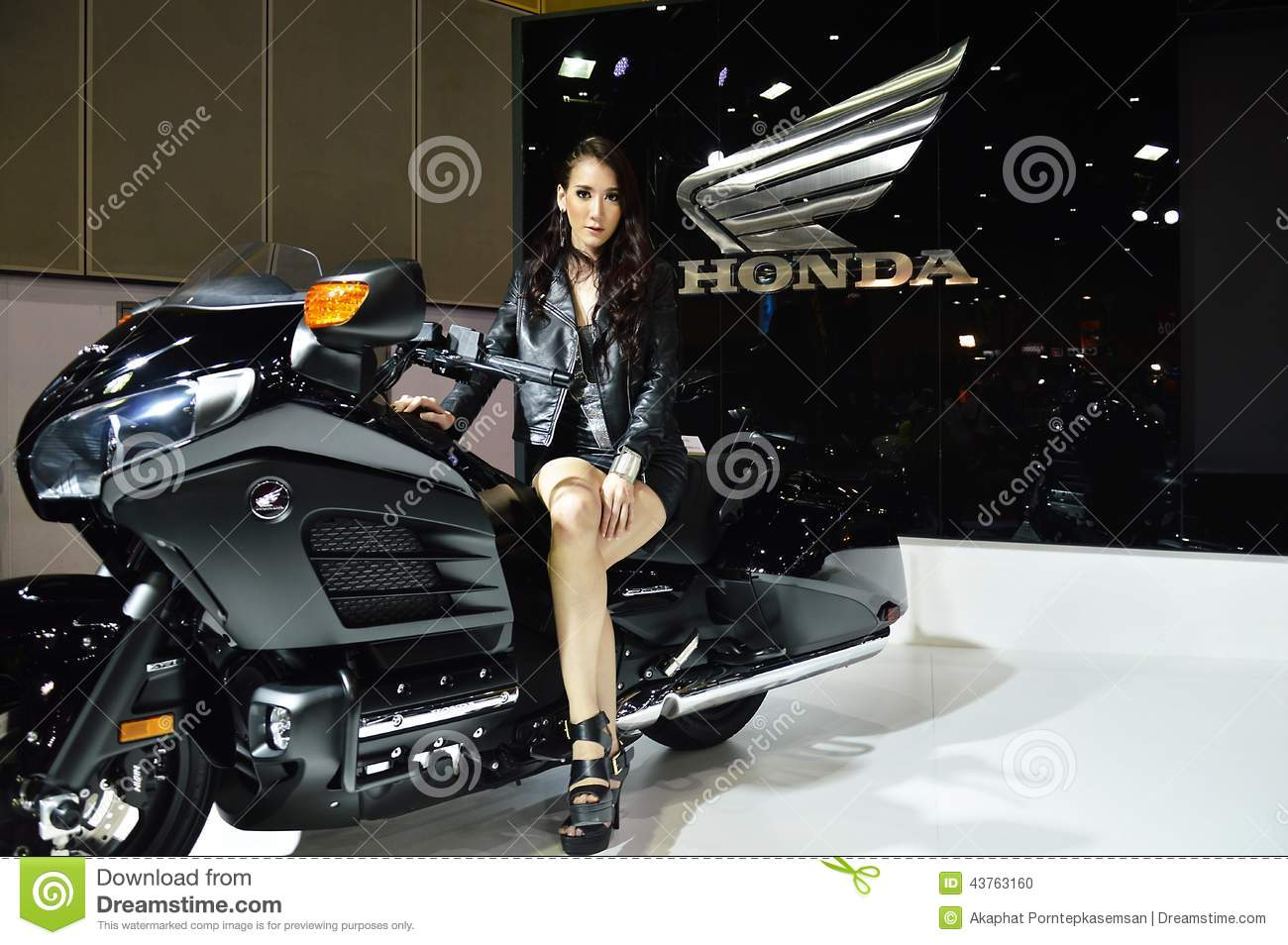 Model Presented Honda Big Bike Editorial Image Image 43763160