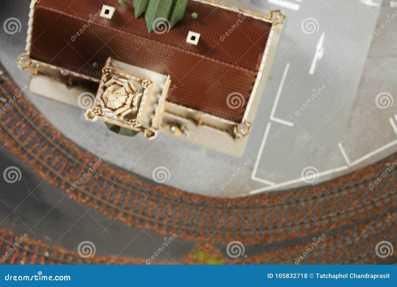 Model railroad on the miniature model scene.