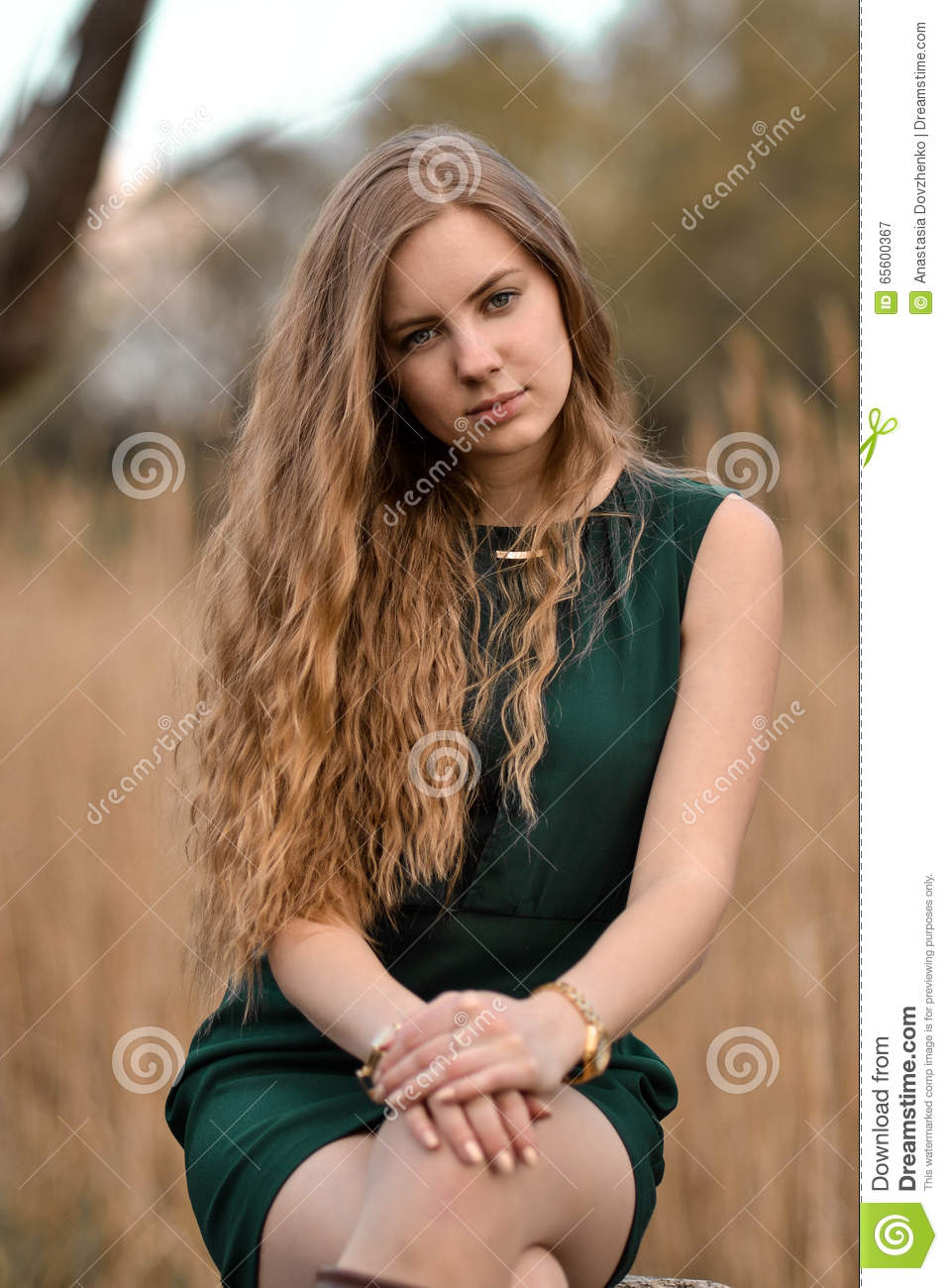 Beautiful Attractive Lovely Cute Girl Woman With Curly Long Hair Stock Image Image Of Glamour Beautiful 65600367