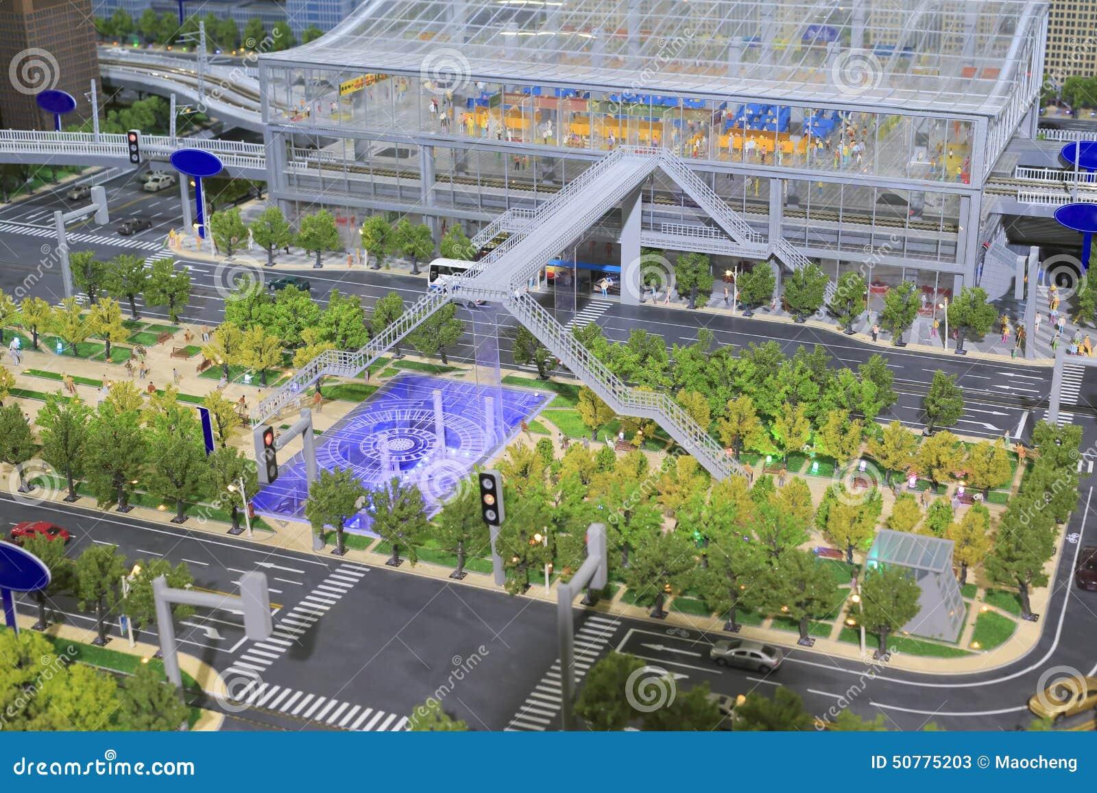 Model stacja miastowy transport masowy