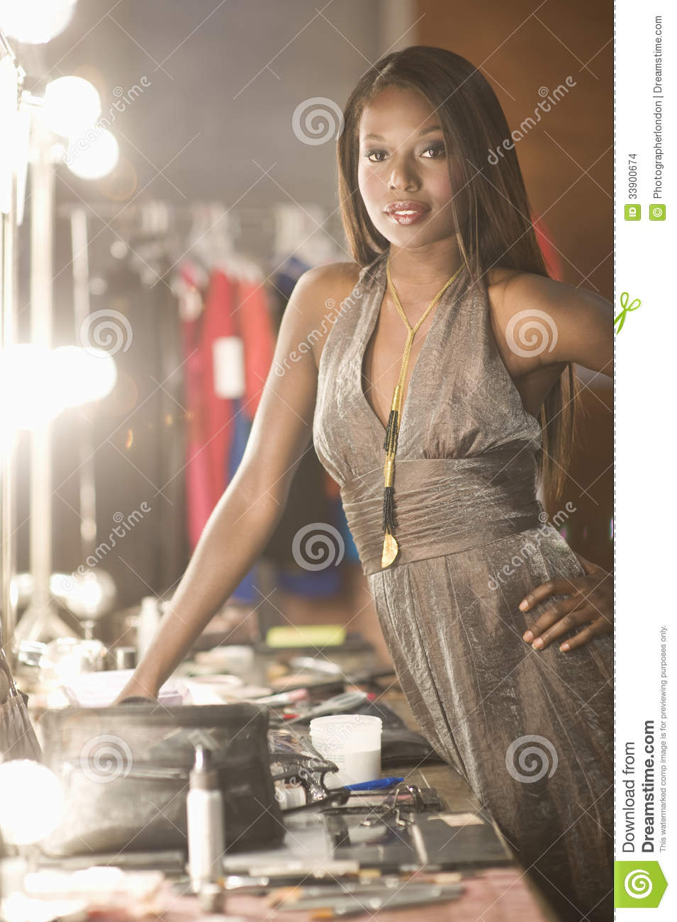Model Standing With In Dressing Room Stock Images Image