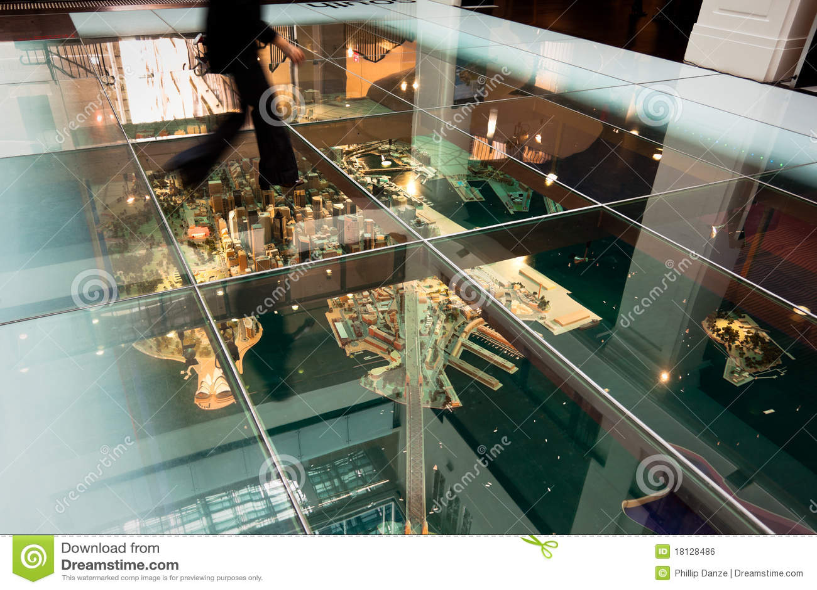 Model Of Sydney Under Glass Floor
