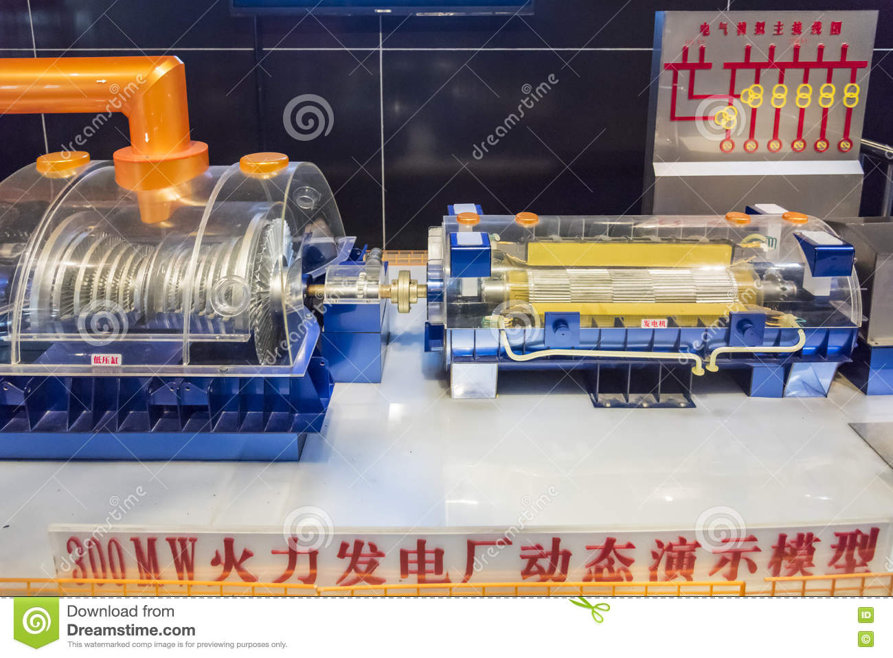 Model Of The Thermal Power Plant Editorial Photography