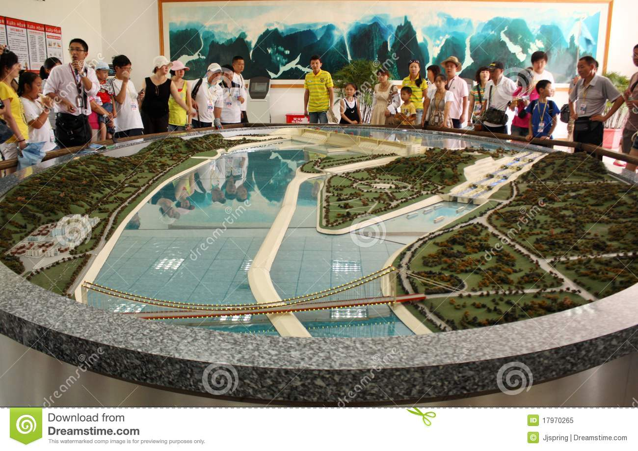 3d Model Of Hydroelectric Power Plant Not Lossing Wiring Diagram Three Gorges Dam With Tourists Editorial Image Energy
