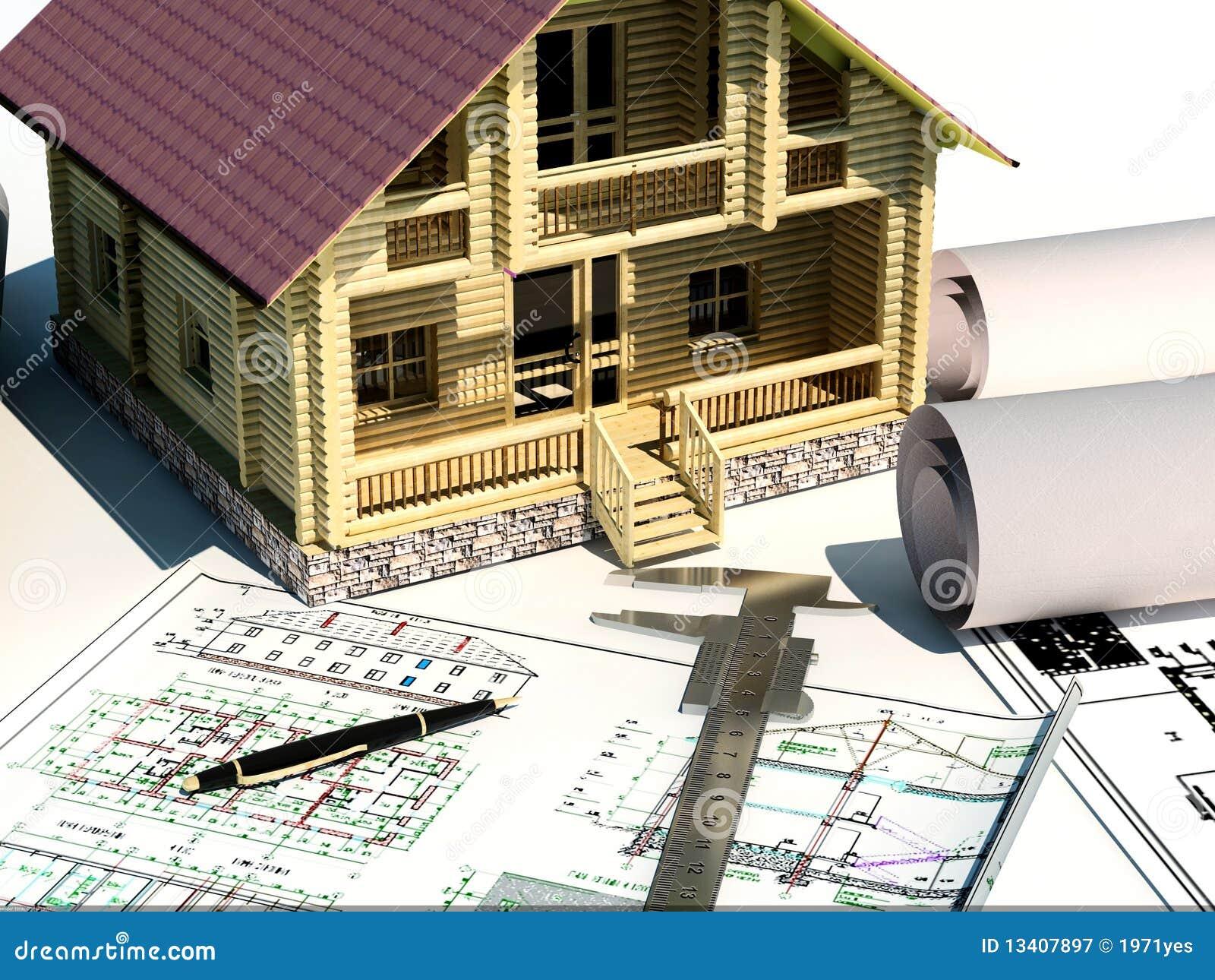 Model van een huis royalty vrije stock fotografie afbeelding 13407897 - Model van huisarchitectuur ...