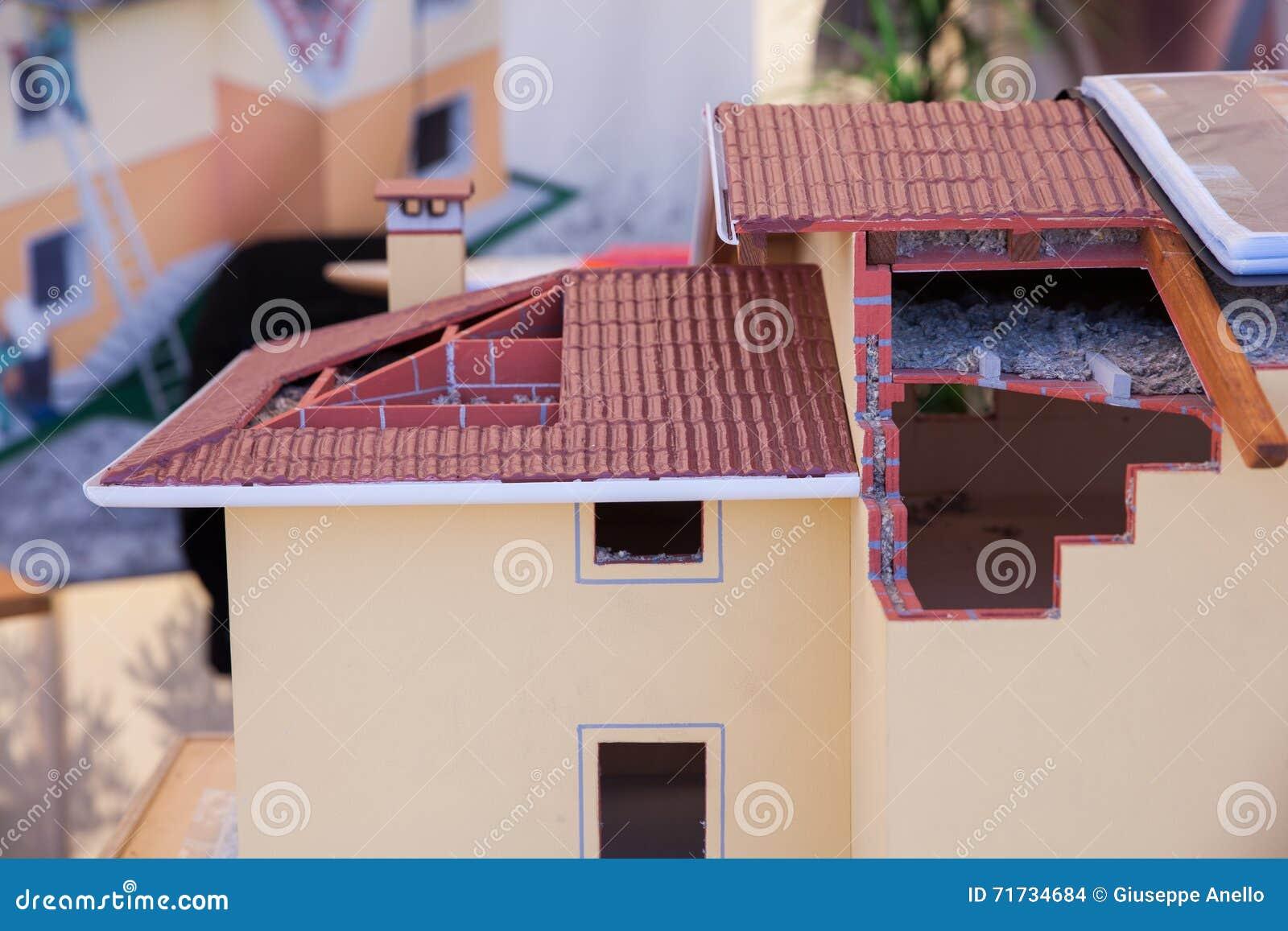 Model van losgemaakt huis