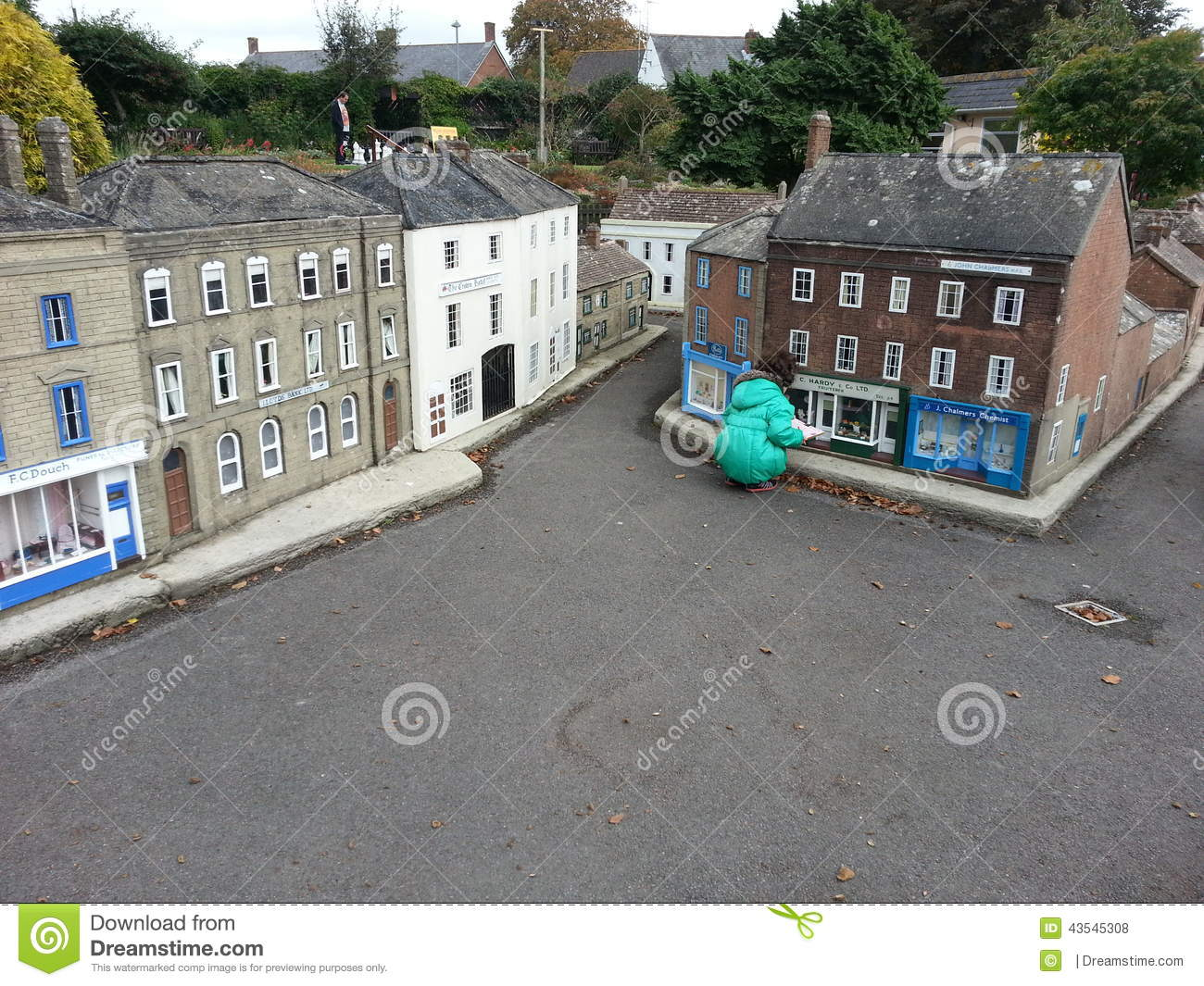 Model village miniature houses editorial stock photo image 43545308 - The tiny house village a miniature settlement ...